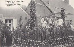 Fêtes - Carnaval - Défilé Char - Fillettes Enfants Papillons Lézards - La Ferté Saint-Cyr - Carnaval