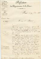 Monarchie De Juillet, 1838,préfecture,élection,modalité Vote à Zangiacomi, Président, 4 P. Manusrcites - Documents Historiques