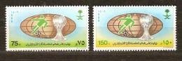 Saoedi Arabie Saoudite 1989 Yvertn° 730-31 *** MNH  Cote 5,25 Euro Football - Arabie Saoudite