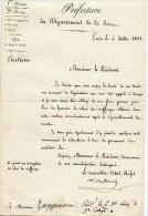 Monarchie De Juillet, 12 P. ,1831,préfecture,lettre Au Président Zangiacomi, Relevé Des Suffrages, Scrutin - Documents Historiques