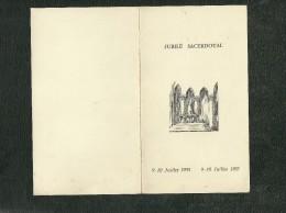 Menu Déjeuner Jubilé Sacerdotal 9-10 Juillet 1905 9-10 Juillet 1955 Chanoine Lecourt Curé De ND Du Pré - Menú