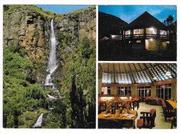 Africa Lesotho Hotel Molimo-Nthuse Lodge Multiview Waterfall Vintage Postcard 4X6 - Lesotho