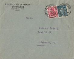 DR Brief Mif Minr.145, 170 Stuttgart 15.5.22 - Allemagne