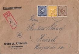 Gemeina. R-Brief Mif Minr.913,927,935 Leipzig 4.9.46 - Gemeinschaftsausgaben