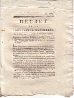 CONVENTION NATIONALE - DECRET 17-7-1793 - DORDOGNE - QUI CASSE ET ANNULE UNE DELIBERATION DU DEPARTEMENT. - Decrees & Laws