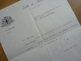 Gaston DEFFERRE (1910-1986) Maire MARSEILLE - Ministre Décentralisation - Décolonisation - AUTOGRAPHE - Autografi
