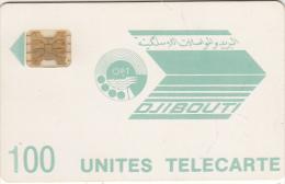 DJIBOUTI - Telecom Logo, First Issue 100 Units, CN : 712283(impact), Tirage %45000, Used - Djibouti