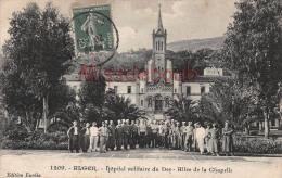 ALGERIE -   ALGER -Hopital Militaire Du Dey - Allée De La Chapelle - 1911 -  2 Scans - Alger