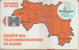 GUINEA - Orange Map 150 Units(reverse C), CN : C4C147904, Mint - Guinea