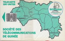 GUINEA - Green Map 100 Units(reverse C), CN : C4C147905, Mint - Guinea