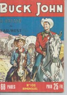 BUCK JOHN   N° 106 -  IMPERIA 1958 - Petit Format