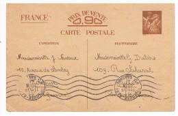 Carte Postale. Entier Postal. FRANCE PRIX DE VENTE 0.90.Cachet TOULOUSE HAUTE-GARONNE 31.Cachet 77/5.  1941 - Entiers Postaux