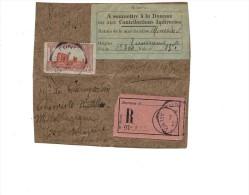 Tunisie Lettre Tunis 1923  Etiquette Colis Recommandé MINERAIS MINERALS  Douane Customs - Brieven En Documenten