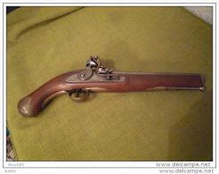 Pistolet A Silex Poudre Noire Tower Replique Ancienne - Armas De Colección