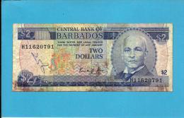 BARBADOS - 2 Dollars - ND ( 1986 ) - P 36 - Sign K. KING - 2 Scans - Barbados