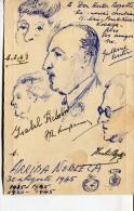 "MENÚ ""HOTEL ESPAÑA"" DÉDICACÉ AUTOGRAPHED BY THEIR EMPLOYEES"" COMPAÑIA NOBLEZA DE TABACO"" RARISSIME! 1945 TBE DRAW GECKO - Menus"
