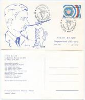 ITALIA 1990 ORBETELLO 50° ANNIVERSARIO MORTE ITALO BALBO CARTOLINA UFFICIALE CON ANNULLO SPECIALE (6600) - Aerei