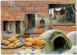 CIPRO - CYPRUS - 2002 - Traditional Cyprus Bread Making - Greetings From Cyprus - Viaggiata Da Nicosia Per Yutz, France - Cipro