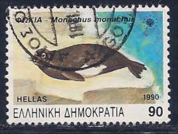 Greece, Scott # 1676 Used Endangered Species, Seal, 1990 - Greece