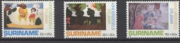 Suriname 1988 25th Anniversary Of Youth Care Child Welfare Paint Art Childhood Organizations Stamps MNH Michel 1283-1285 - Childhood & Youth