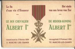 ! - Belgique - Mort Par Accident Du Roi Albert 1er - Carnet Avec 8 Cartes Postales Se Tenant - Funérailles