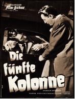"""Illustrierte Film-Bühne  -  """"Die Fünfte Kolonne""""  -  Mit Robert Mitchum -  Filmprogramm Nr. 3495 Von Ca. 1956 - Magazines"""