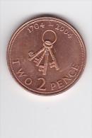 2 PENCE - 4 Clés - 1704-2004 - Tricentenaire De GIBRALTAR - Gibraltar