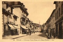 CPA TULLE. Avenue Victor Hugo, Sélect Théatre. Chaudronnerie Meydel, Café Sélect. - Tulle