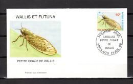"""WALLIS ET FUTUNA 1998 : Enveloppe 1er Jour : """" PETITE CIGALE / MATA - UTU Le 21-07-1998 """" N° YT 521. Parf état. FDC - Insectes"""