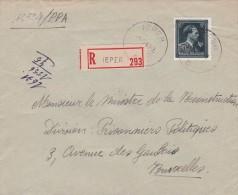 Belgique Recommandé Ieper Ypres 1947 - België