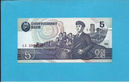 KOREA, NORTH - 5 WON - 1998 - P 40 - UNC. - 2 Scans - Korea, North
