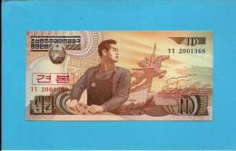 KOREA, NORTH - 10 WON - 1998 - P 41.s - UNC. - SPECIMEN - 2001368 - 2 Scans - Korea, North