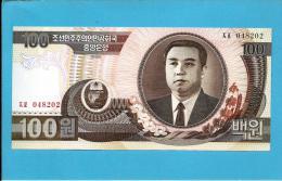 KOREA, NORTH - 100 WON - 1992 - P 43 - UNC. - Kim II Sung - 2 Scans - Corée Du Nord