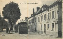 AY LE TRAIN BOULEVARD SADI CARNOT - Ay En Champagne