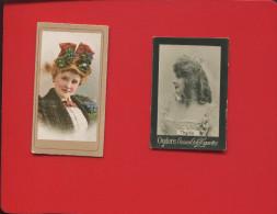 DEUX IMAGES CIGARETTES OGDENS OGDEN ' S THYLDA ACTRICE PHOTO  ET THE AMERICAN TOBACCO CO BRANDS CIGARETTES - Ogden's