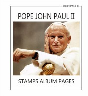 STAMPS ALBUM PAGES POPE JOHN PAUL II 1982-2011(COMPLETE) - PDF FILE (ALL PAGES FULLY ILUSTRATED) - Software