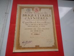 BRIQUETERIES D'ASNIERE - Hist. Wertpapiere - Nonvaleurs