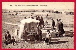 14 DEAUVILLE - Plage Fleurie - Sur La Plage - Deauville