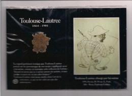 Pin's Toulouse-Lautrec Chargé Par Lui-même - Pin's Sur Carte Avec Dessin De 1896 - Réunion Des Musées Natinaux - 1992 - - Celebrities