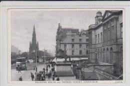 United Kingdom > Scotland> Midlothian Edinburgh - REGISTER HOUSE AND PRINCESS STREET - TRAM & PEOPLE - Midlothian/ Edinburgh