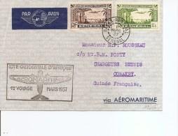 Sénégal ( Lettre En Premier Vol De 1937 De Dakar Vers La Guinée Française à Voir) - Sénégal (1887-1944)