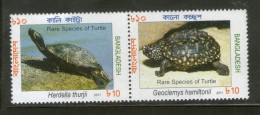 Bangladesh 2011 Rare Species Of Turtles Reptiles Animals Se-Tenant MNH # 4002 - Bangladesh