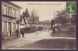 CPA De  PERRIERS Sur ANDELLE  Eure  Rue De L Eglise En Montant  ANIMEE  1911 - France