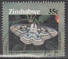 Zimbabwe, 1986 - 35c Southern Marbled Emperor - Nr.532 Usato° - Zimbabwe (1980-...)