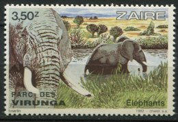 (cl 10 - P34) Zaïre ** Ref Michel N° 781 (ref. Michel Au Dos) - Elephants - Prix 1,50 € + Port - Zaïre