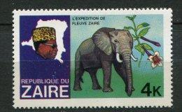 (cl 10 - P34) Zaïre ** N° 928 (ref. Michel Au Dos) - Elephant - - Zaïre