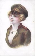 MILITAIRE - Croix De Guerre Des Alliés - Fantaisies Trichromes - A. Noyer - Série 33 - 168 - Personnages
