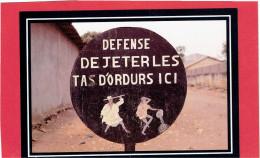 BENIN PORTO NOVO PANNEAU URBAIN CARTE EN TRES BON ETAT - Benin