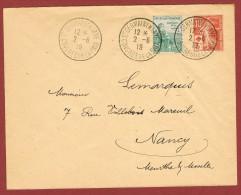 St Germain En Laye Oblitération Congrès De La Paix 2/6/19 Sur Pli (négociations Autriche Hongrie) - Lettres & Documents