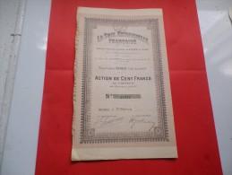 LA SOIE ARTIFICIELLE FRANCAISE (1919) RENNES- Ille Et Vilaine - Actions & Titres